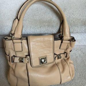 banana republic tan beige satchel bag purse